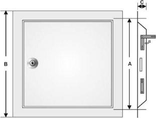 System B3 vägglucka